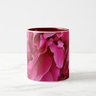pink peone mug