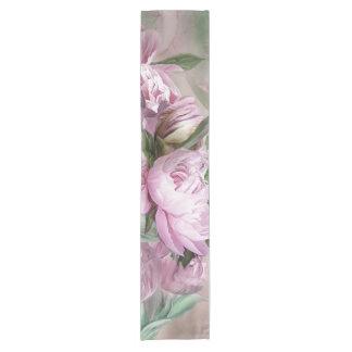 Pink Peonies In Peony Vase 2 Art Table Runner