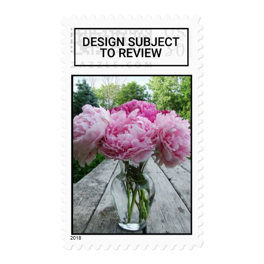 Pink Peonies In Vase Flower Arrangement Postage St