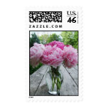 Pink Peonies in Vase Flower Arrangement Postage St