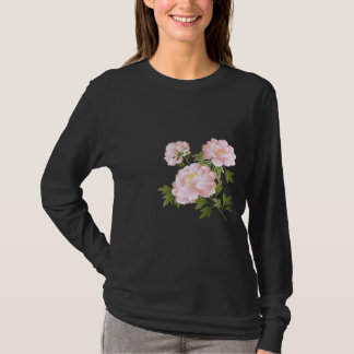 Pink Peonies Ladies Long Sleeve T Shirts