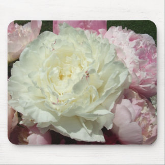 Pink Peonies / Pink Peony Mouse Mat Mouse Pad