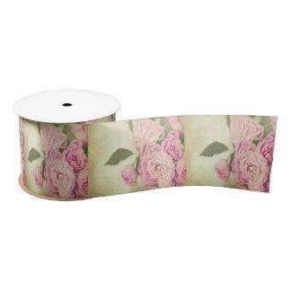 Pink, peonies,vintage,floral,grunge,worn,template, blank ribbon
