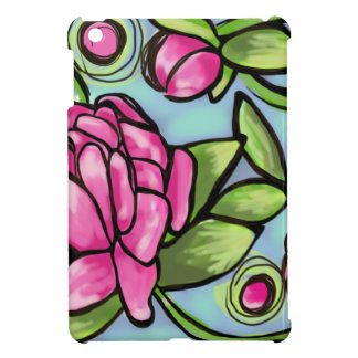 pink peonies with greenery case for the iPad mini