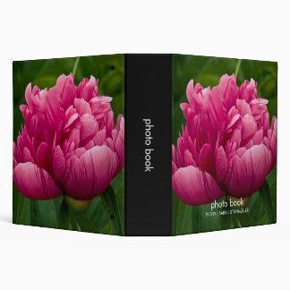 "Pink Peony 2"" Photo Book Vinyl Binder"