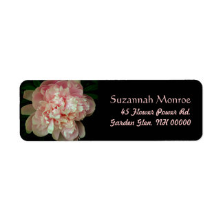 Pink Peony Address Labels