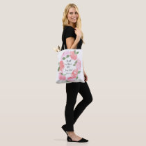 Pink Peony Be Still Psalm 46:11 Tote Bag