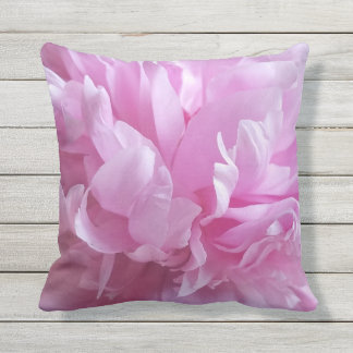 Pink Peony Beauty Outdoor Pillow