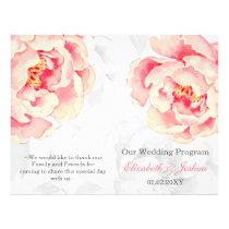 Pink Peony Bifold wedding program