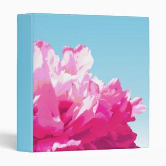 Pink Peony Vinyl Binders