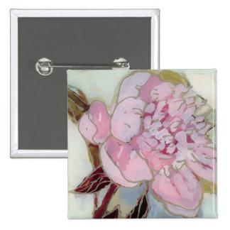 Pink Peony Blossom Button