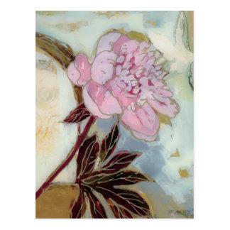 Pink Peony Blossom Postcard