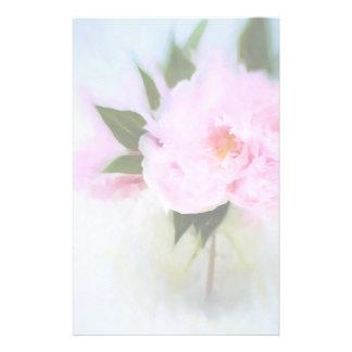 Pink Peony Bouquet Illustration Stationery