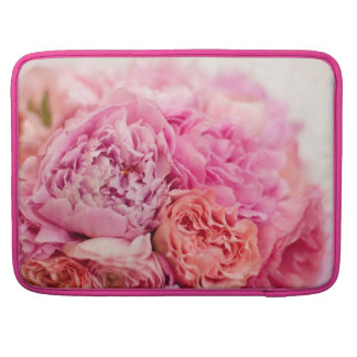 Pink Peony Bouquet MacBook Pro Sleeve