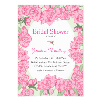 Pink Peony Bridal Shower Invitation
