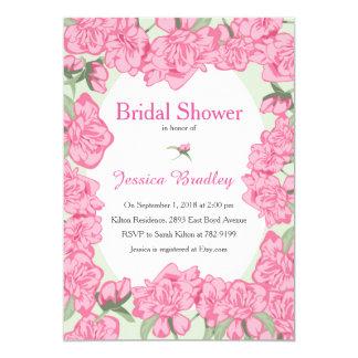 Pink Peony Bridal Shower Invitation 13 Cm X 18 Cm Invitation Card
