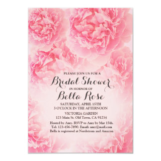 Pink peony Bridal Shower invitation peony1