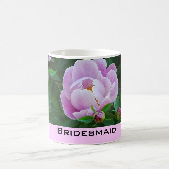 Pink Peony Bridesmaid Mug