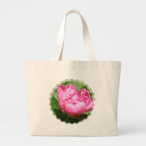 Pink Peony Canvas Bag