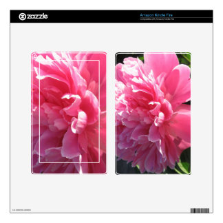 Pink Peony Decal For Kindle Fire