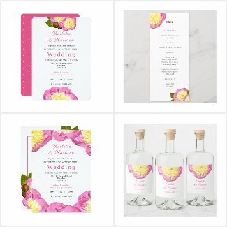 Pink Peony Elegant Floral Wedding Collection