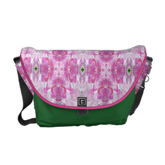 Pink Peony Explosion Courier Bag