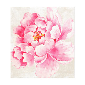 Pink Peony Floral Canvas Print