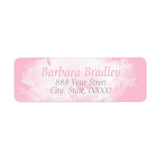 Pink Peony Floral Pattern 1 Return Address Label