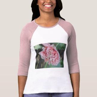 Pink Peony Flower Baseball Shirt