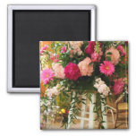 Pink_Peony_Flower_Ceremony_Arrangement_On_Stand Fridge Magnet