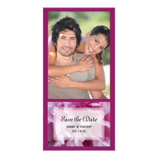 Pink Peony Flower Wedding Save the Date Card