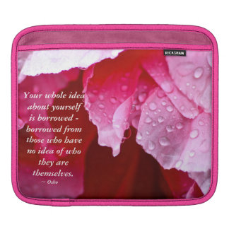 Pink Peony Flower with Osho & Pema Chodron Sleeve For iPads
