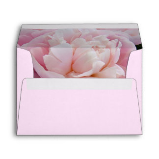Pink peony flowers A7 Greeting Card Envelope