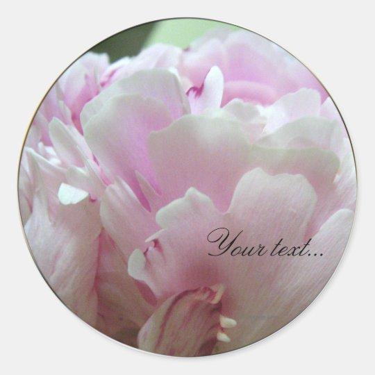 Pink Peony Flowers Wedding Invitation Seals