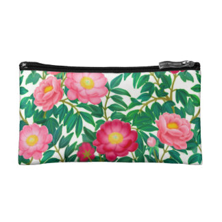 Pink Peony Garden Flowers Bagettes Bag