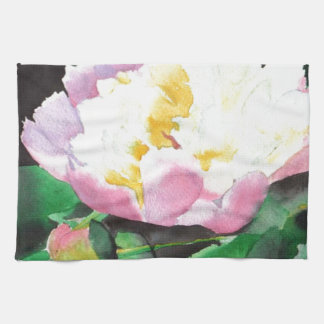 Pink Peony Hand Towels