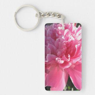 Pink Peony Key Chain