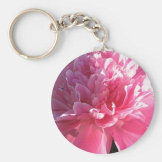 Pink Peony Key Chains
