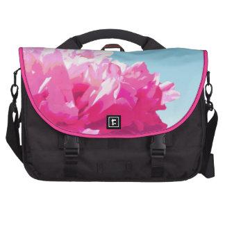 Pink Peony Laptop Computer Bag