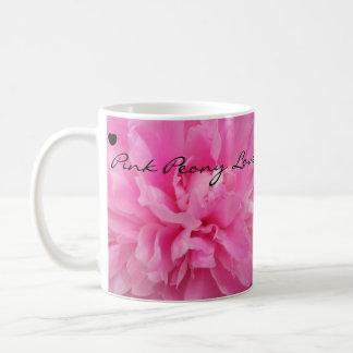 Pink Peony Love Coffee Mug