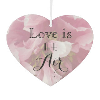 Pink Peony Love is in the Air Wedding Favor Air Freshener