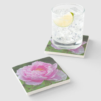 """PINK PEONY"" MARBLE COASTER"
