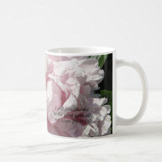 Pink peony mug