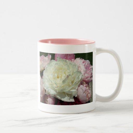Pink Peony Peonies Floral Mug