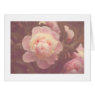 Pink peony flower large greeting cards zazzle pink peony peonies flowers custom name big card mightylinksfo