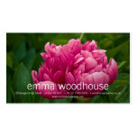 Pink Peony Personal Business Card