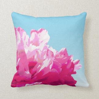 Pink Peony Throw Pillows