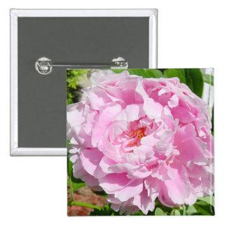 Pink Peony Pinback Button