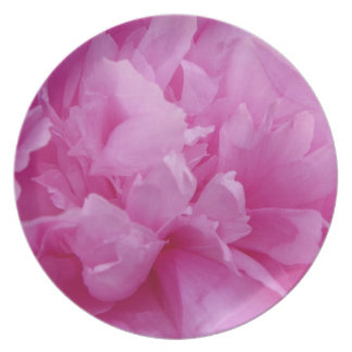 Pink Peony Plate