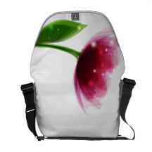 Pink Peony Rickshaw Messenger Bag